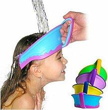 yeah67886Kinder sicher Dusche Haare waschen Wasserdicht Sonnenschutz Shield Cap (zufällige Farbe)