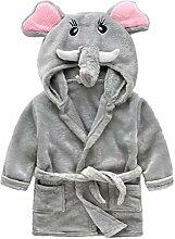 YeahiBaby Elefant Baby Bademantel mit Kapuze