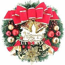 YEAHIBABY Frohe Weihnacht Kranz Weihnachtstür