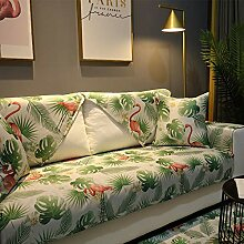 YEARLY Flamingo Wasserdicht Sofabezug, Floral