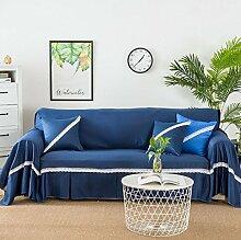 YEARLY Volltonfarbe Sofabezug, 1-teilige Spitze