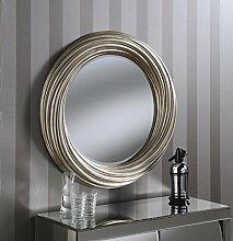 Yearn Sehnen, rund Silber WANDSPIEGEL, 86x 86cm