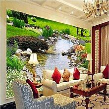 YEbao Florale 3D Tapete Für Zeitgenössische Wand Abdeckt Leinwand Material Werden Wandgemälde Zimmer Wand Abdeckt Xxxl (416 * 254Cm) Xl (312) 219Cm) Xl