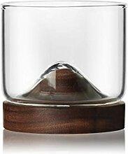 YEBO 120ml Teeglas/Kaffeeglas, Untersetzer aus