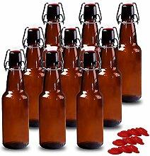 yeboda 12Oz Bernstein Glas Bier Flaschen für