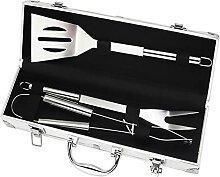 YECUI 4PCS Edelstahl Grillutensilien Set BBQ