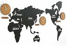 Yedda Nahum Karte der Welt Moderne kreative Uhr