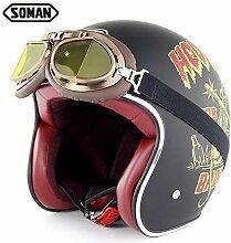 Yedina Motorradhelm Motorrad DOT Zertifizierung