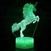 YEDM Einhorn Lampe Romantische nachtlicht 3D LED