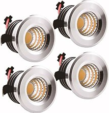 Yeehome 4 x LED Einbaustrahler Mini Strahler 3W