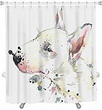 yeho Art Galerie Custom Schwarz und Weiß gestreift Wasserdicht Badezimmer Duschvorhang Polyester Stoff Vorhang für die Dusche Größe 60x 72durch Dusche Vorhang, Polyester, Stil 1, 72x84