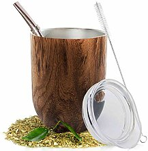 Yerba Mate Natural Kürbis/Teetassen-Set Braun