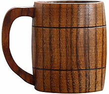 Yeshai3369 Bierbecher mit Holzgriff für Tee,