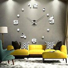 YESURPRISE Wanduhr wohnzimmer wanduhr spiegel wandtattoo deko xxl 3D Wall Clock