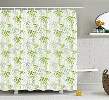 Yeuss Bambus-Duschvorhang, frischer Lush of the