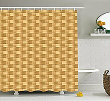 Yeuss Bambus Duschvorhang von Wicker Muster in