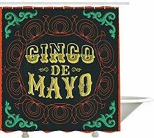 Yeuss Cinco De Mayo Duschvorhang,
