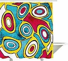 Yeuss moderner Duschvorhang, abstrakte