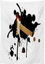 Yeuss Popstar Party-Tischdecke für E-Gitarre,