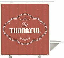 Yeuss sei dankbar Duschvorhang, Dankbarkeit Zitat