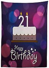 Yeuss Tischdecke zum 21. Geburtstag mit Zitat