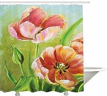 Yeuss Tulip Duschvorhang, Vintage Blütenblatt