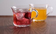 YFDS Glas Tee Tassen Tassen verpackt Becher transparent Saft Tasse Blume e Eis Tee Tasse Crystal Cup,1