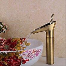 YFF@ILU Bad-Accessoires Kupfer antik Badezimmer Waschbecken Wasserhahn