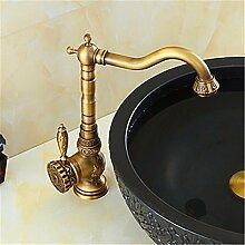 YFF@ILU Bad-Accessoires Zeitgenössische einfach Bad-Accessoires Badezimmer Waschbecken Wasserhahn KERAMIK Ventil