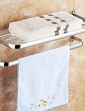 YFF@ILU Bad Regale,Moderne hochglanzpoliert Edelstahl Material,Badezimmer Zubehör , Chrom