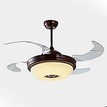 YFF@ILU Chinesischen stealth Lüfter LED-Lampe, Acryl Fernbedienung Ventilator Kronleuchter, E