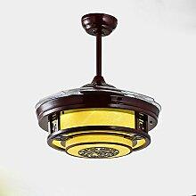 YFF@ILU Chinesischen stealth Lüfter LED-Lampe, Acryl Fernbedienung Ventilator Kronleuchter, C