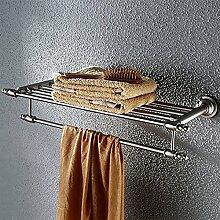 YFF@ILU Continental Edelstahl bad Handtuchhalter Badezimmer Handtuchhalter Regal wc Aufhänger