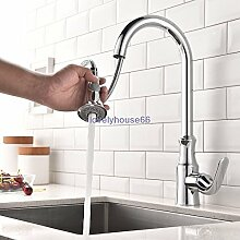 YFF@ILU Einzigen Griff Loch Küche Spültisch Armatur Armaturen Herausziehen Dusche Wäsche Füller , Chrom
