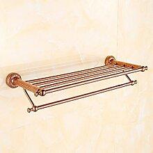 YFF@ILU Geschnitzt gold lace Handtuchhalter Kupfer Rose Gold Bad Handtuchhalter Regal wc Badezimmer 5 Badewanne Bügel 1829, Kim