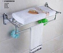YFF@ILU Handtuchhalter EDELSTAHL 304 WC Regal bad Handtuchhalter Zusammenbruch 5 Pflegeprodukte im Badezimmer. Kim hängen Kit ,600