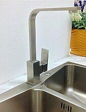 YFF@ILU Home deco 304 Edelstahl bleifreie Küche Armatur Wasserhahn Nickel gebürste