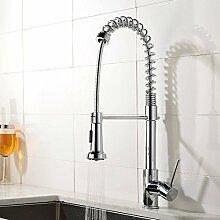 YFF@ILU Home deco Accessoires europäische Moderne Kupfer mix warmes und kaltes Wasser Küche Wasserhahn