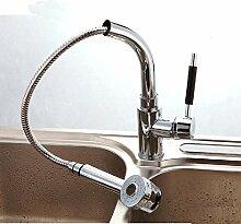 YFF@ILU Home deco Accessoires Kupfer Ziehbaren Teleskop Waschbecken Wasserhahn für Küche