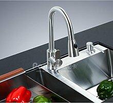 YFF@ILU Home deco Accessoires Waschbecken aus Edelstahl Zeichnung warme und kalte Küche tippen