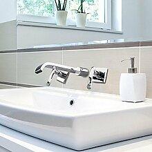YFF@ILU Home deco Continental Kupfer und Silber in die Wand-WC-Armatur