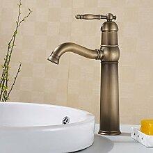 YFF@ILU Home deco Dan Lian-Rereo Kupfer Wasserhahn Küchenarmatur Armatur Waschbecken mit warmen und kalten Wasserhahn