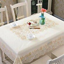 YFF@ILU Home Deco Modern und minimalistisch PVC-Kunststoff wasserdicht Küche runden/Square Table Restaurant Geschenk Tabelle flag Tischdecken Tischdecke, E