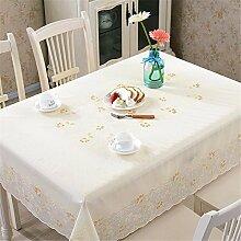 YFF@ILU Home Deco Modern und minimalistisch PVC-Kunststoff wasserdicht Küche runden/Square Table Restaurant Geschenk Tabelle flag Tischdecken Tischdecke, C
