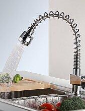 YFF@ILU Home deco Moderne Küche Armatur chrom Spray Auszug einer Bohrung