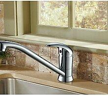 YFF@ILU Kupfer für die Kalte und warme Küche Wasserhahn Wasserhahn pflanzliche Waschbecken Wasserhahn Drehen 360 Grad