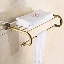 YFF@ILU Kupfer Handtuchhalter voll Kupfer antik Regal Bad retro Badezimmer Handtuchhalter 2-Hebel bad Handtuchhalter Cu alle Badezimmer Acc.