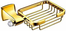 YFF@ILU Kupfer und Gold mit Diamant-stil Regal Seifenschale Seife