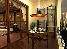 YFF@ILU Retro antike schmiedeeiserne Lampe deco Esszimmer Schlafzimmer Wohnzimmer Flur Kronleuchter, ein Hotel