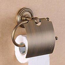 YFF Komplettes bad Kupfer hängenden Handtuch Badezimmer Regal wc Papier Fach WC-Bürste Rack Kit Continental retro